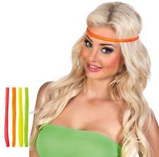 Neon Stirnbänder 4er-Set NEU - Karneval Fasching Hut Mütze Kopfbedeckung