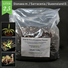 (1,20 €/l) 2,5 Liter Karnivorenerde Venusfliegenfalle Sarracenia Queensland Torf