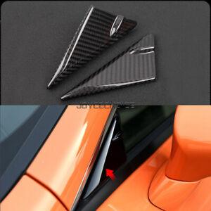 2X Carbon Fiber Window Front Triangular Trim For Lexus RC 200 300 350 RC F SPORT
