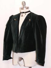 GREEN~WOOL VELVET German Women Fitted Short Party Dress Suit JACKET Coat 40 8 S