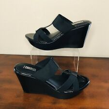 Sharp Black Wedge Sandals by Charles David ~NWOT~ *FREE SHIPPING*