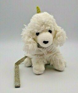 "Justice Pet Shop Gigi Dog The White Poodle Plush w/Unicorn Outfit & Leash 6"""