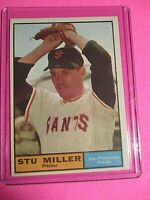 1961 Topps #72 Stu Miller San Francisco Giants NrMt SHARP!