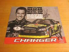 David Stremme Driver Autographed Signed 8.5X11 Photo NASCAR Racing
