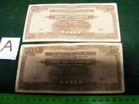 Lot of 2 different  Japanese Occupation/Invasion Banknotes,Both M types.(A).