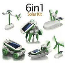 6 in 1 Creative Educational Toy DIY Car Boat Fan Plane Solar Powered Robot Kit