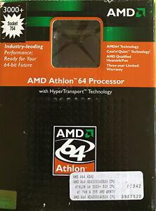 AMD Athlon 64 3000+ processor (ADA3000AXBOX ) and heat sink In original box.——1