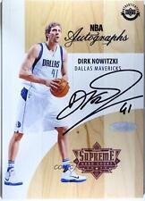 2017-18 Upper Deck Supreme Hardcourt NBA Dirk Nowitzki #A-DN Auto