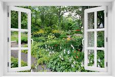 3D Wandillusion Wandbild FOTOTAPETE Fensterblick Landschaft Natur - kr-55