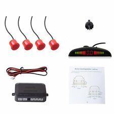Red Car Auto Vehicle Reverse Backup Radar System with Parking Sensors Distance