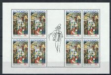 SLOVAKIA 1990 Europa Art Topical full sheet of 8 MINT XF NH