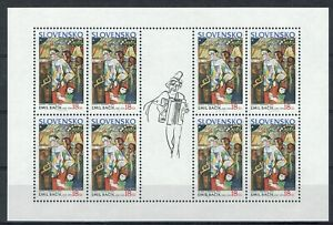 SLOVAKIA 1990 Europa Art Topical full sheet of 8 MINT XF NH