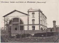 BB116-ACERENZA(POTENZA)CENTRALE-TERMO-ELETTRICA LOTTO DI DUE FOTO