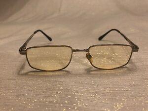 Gianni Versace Glasses Mod.64 Col.39 52-18 Silver Tone Prescription Italy