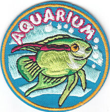 Aquarium Iron On Patch Fish Dolphins Starfish Sharks Turtles Pets