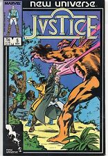 Marvel Comics Justice #5 March 1987 New Universe F+