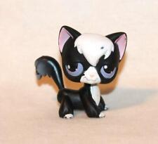 Littlest Pet Shop Black & White Angora Cat No Lps # Purple Eyes Puzzle Tuxedo