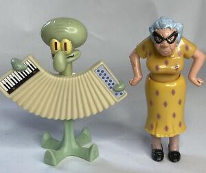 McDonald's Disney Recess Toy Figure Old Lady Squidward Spongebob Burger King