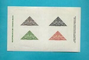COSTA RICA SOUVENIR SHEET SCOTT 183 PHILATELIC EXPOSITION 1937 MNH