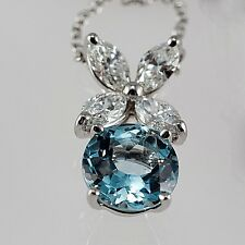 TIFFANY&CO VICTORIA NECKLACE, PENDANT IN PLATINUM WITH AQUAMARINE AND DIAMONDS