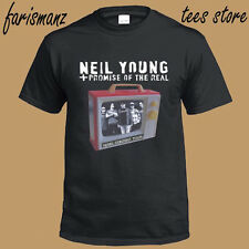 Neil Young Promise of The Real Rebel Content Tour Men's Black T-Shirt Size S-3XL