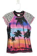 Xhilaration Girls Swimwear Rashguards M Black Polyester