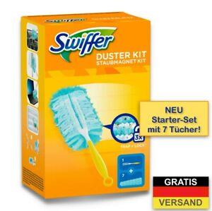 Swiffer Staubmagnet Starterset Griff + 7 Tücher Staubtuch - Staubwedel - Swiffer
