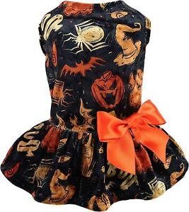 Fitwarm Halloween Lightweight Velvet Clothes Dog Costume Puppy Dress Doggy Skirt