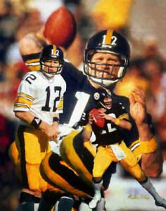 Terry Bradshaw Pittsburgh Steelers QB Quarterback NFL Football Art 2 8x10-48x36