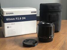 Sigma 60mm f/2.8 Micro four thirds Lens