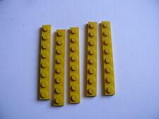 Lego 5 plates jaunes set 31035 1966 7814 183  / 5 yellow plates 1 x 8