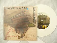 DISRESPECT JUSTICE IN A BAG ep with lyric sheet / press release N/M WHITE/ punk
