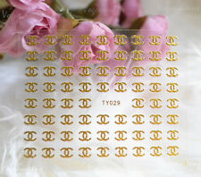 Brand New Gold 3D Nail Art Stickers Designer Label Nail Stickers