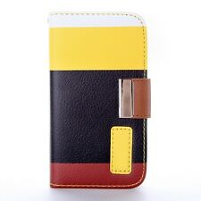 CASE MULTICOLOR LEATHER PROTECTION COVER SAMSUNG GALAXY NOTE 2 NOTE2 I9277