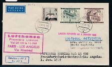 62297) LH FF Paris - Los Angeles 1.1.69, Brief ab CSSR