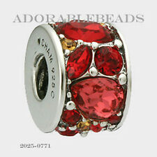 Authentic Chamilia Sterling Silver Mosaic Chianti Bead 2025-0771