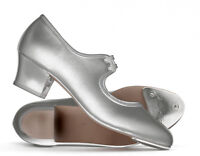 Ladies Silver PU Cuban Heel Tap Dance Shoes All Sizes By Katz Dancewear