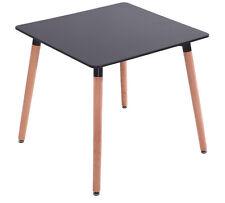 Esstisch Buche Tisch 80 x 80 cm MDF- Designertisch - Retro schwarz massiv !!!