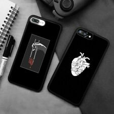 Japanese Aesthetic Heart Silicone Phone Case Cover For iPhone Samsung Galaxy