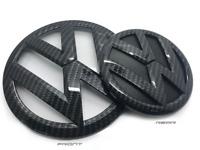 VW Golf MK7 2013-2017 Carbon Fibre Front & Rear Badge Emblems GTI/GOLF R/GT-TDI