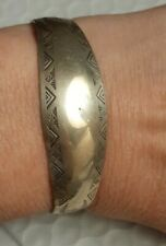 Vintage Native American Stamped Sterling Silver Arrows Cuff Bracelet size small