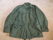 "~US MILITARY M-1951 FIELD JACKET SZ SMALL-SHORT 1953 OD BRASS ZIPPER 42"" CHEST"