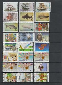 Thailand 1986 - 1988 MNH or fine used collection, 78 stamps