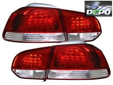 2010-2012 Volkswagen Golf GTI VI LED Red Clear Tail Lights 4 Pcs DEPO