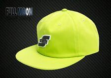 d269de3b0c7 New Stussy 3D Logo Mens Neon Green Strapback Cap Hat