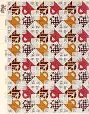 Scott #1745/8.13 Cent.Folk Art/Quilts.Sheet of 48 Stamps