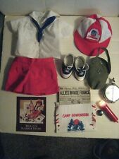 American Girl Molly's Camp Gowonagin Uniform +Camping Equipment Set;Saddle Shoes