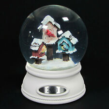 "Smith & Hawken BIRDHOUSES 6"" Snow Globe 2014 Christmas Snowbirds Cardinal"