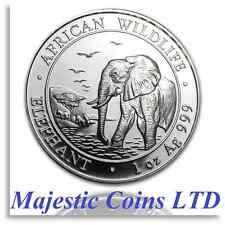 2010 Somalia Elephant SilverAfrican Wildlife 1 Oz .999