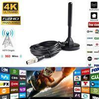 HD1080P DVB-T2 Indoor Amplified TV Antenna With Amplifier 200 Miles Range